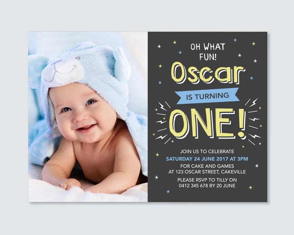 1st birthday of boy invitation cards