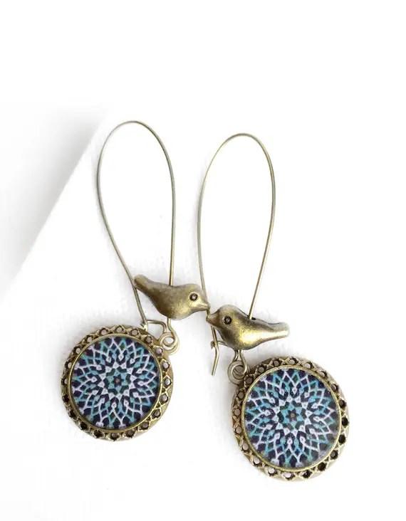 Persian Jewelry : persian, jewelry, SEPIDEH, Earrings, Persian, Oriental, Mandala, Jewelry