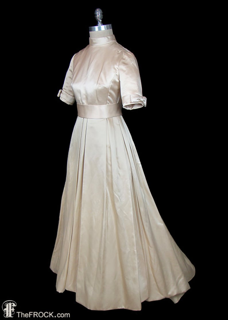 Balenciaga wedding Dress ivory silk satin couture bridal  Etsy