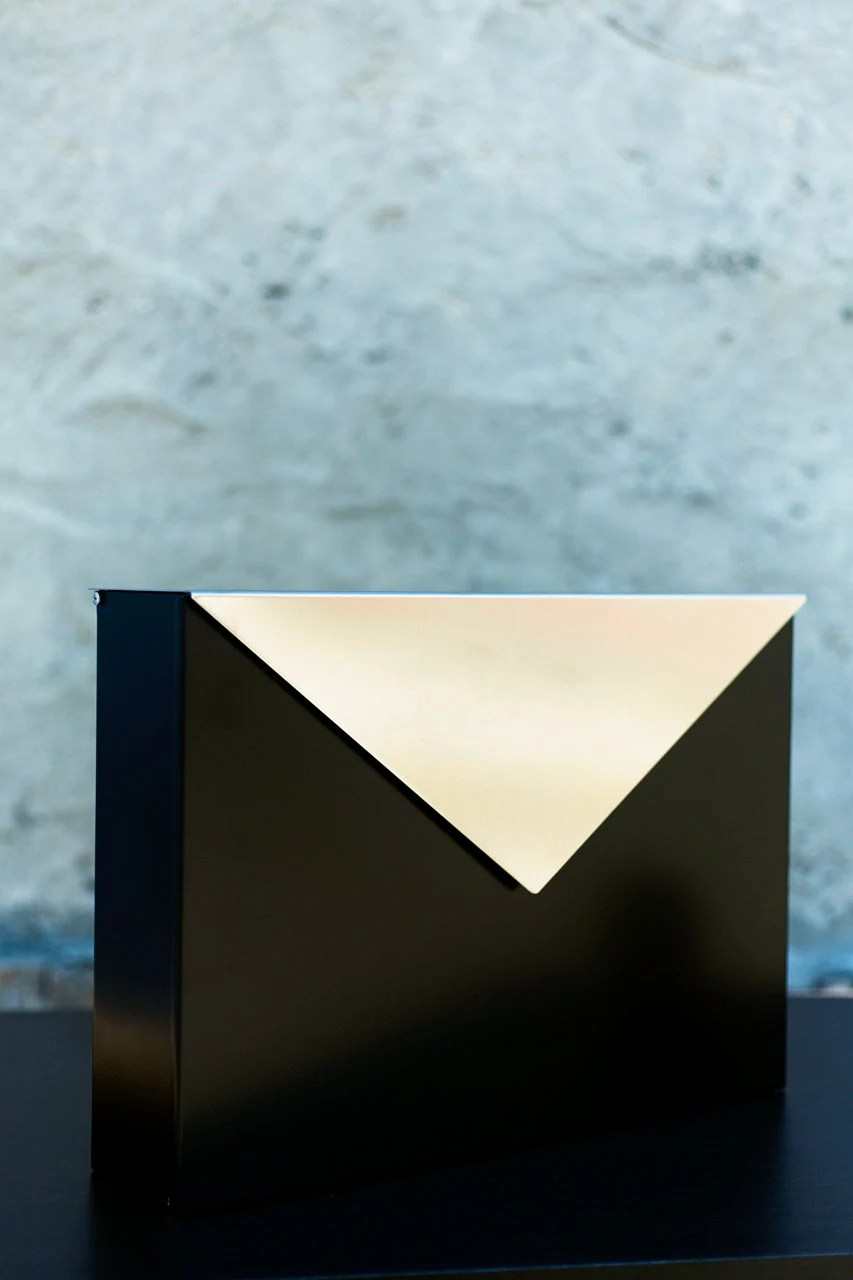 black mailbox envelope made