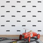 Race Cars Decals Set For Boy S Nursery And Kids Rooms Race Cars Room Wall Decor Cars Wall Graphics Children S Car Bedroom Decor