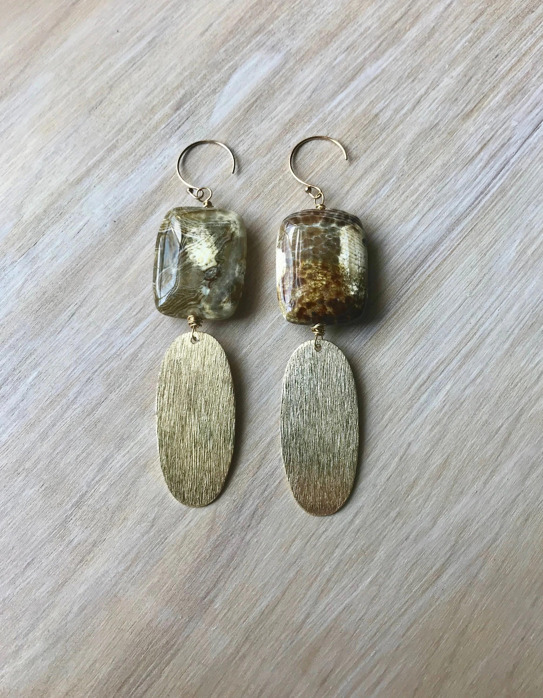 Does Gold Vermeil Tarnish : vermeil, tarnish, Spotted, Agate, Gemstone, Vermeil, Handmade, Wrapped