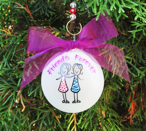 Girl Friends Christmas Ornament Personalized Custom