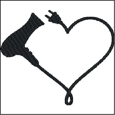Download Blow Dryer Embroidery Design   Etsy