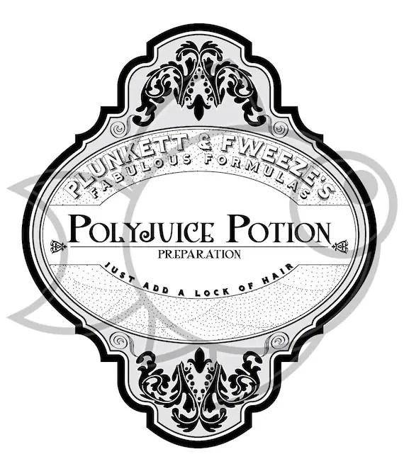 Custom Drink Label Polyjuice Potion Harry potter t