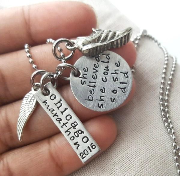 Marathon Running Necklace Jewelry
