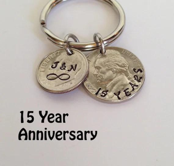 15 Year Anniversary Keychain