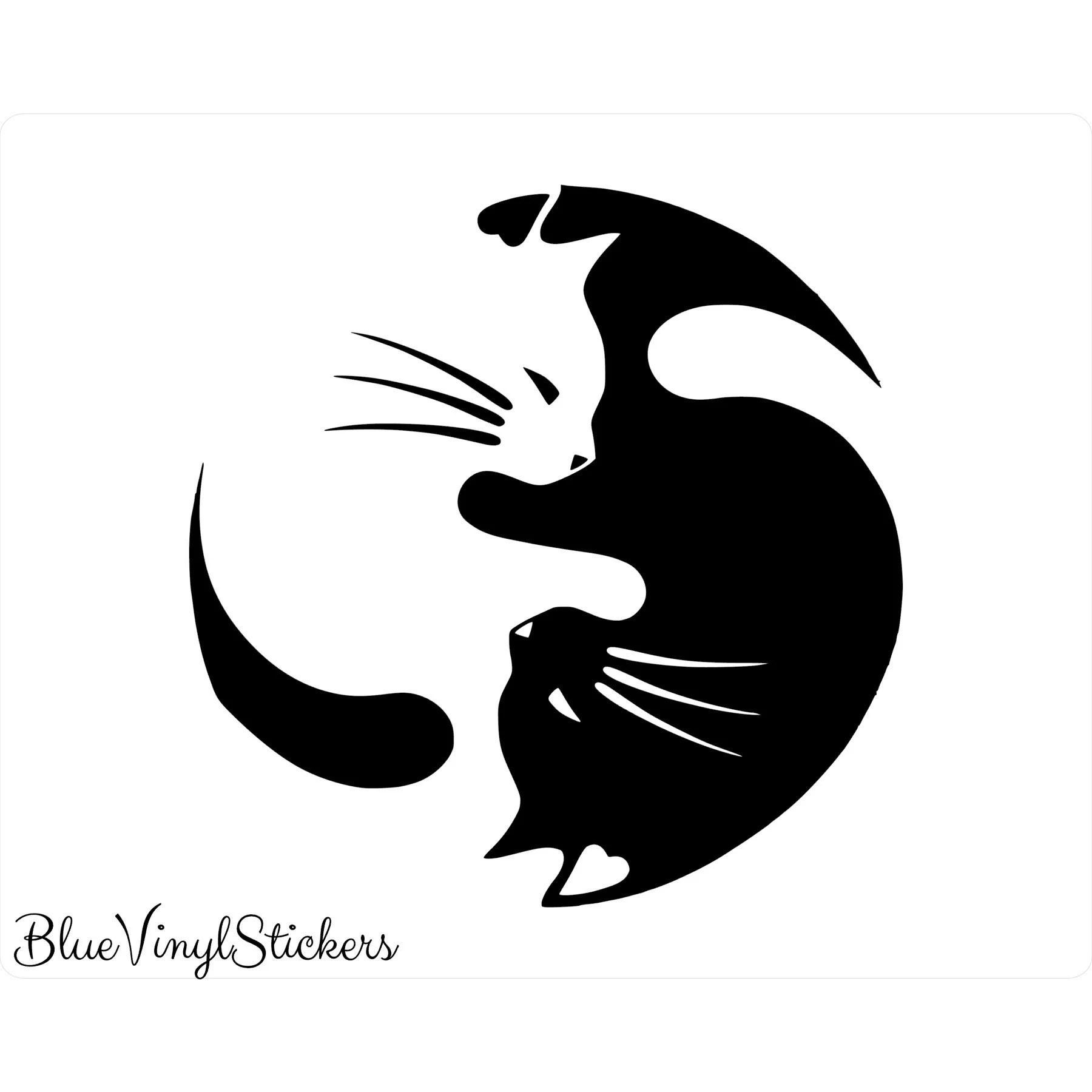 yin yang cats yin