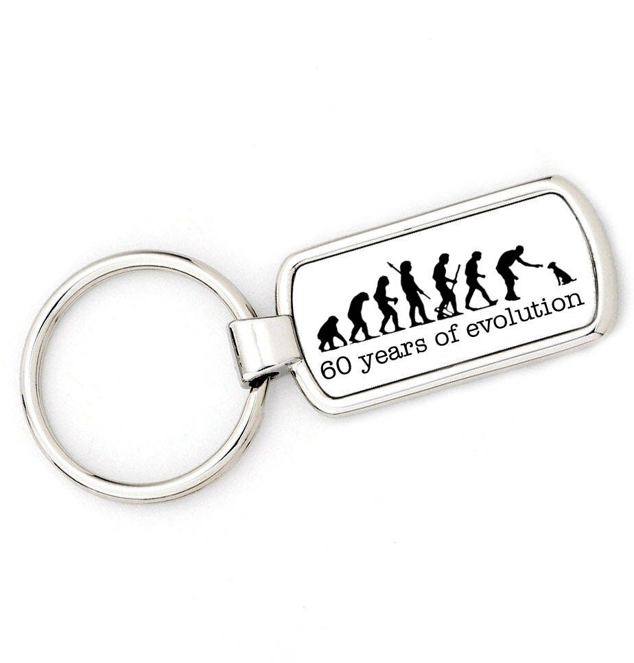 60th BIRTHDAY DOG TRAINER Walker Mans Evolution Key Ring
