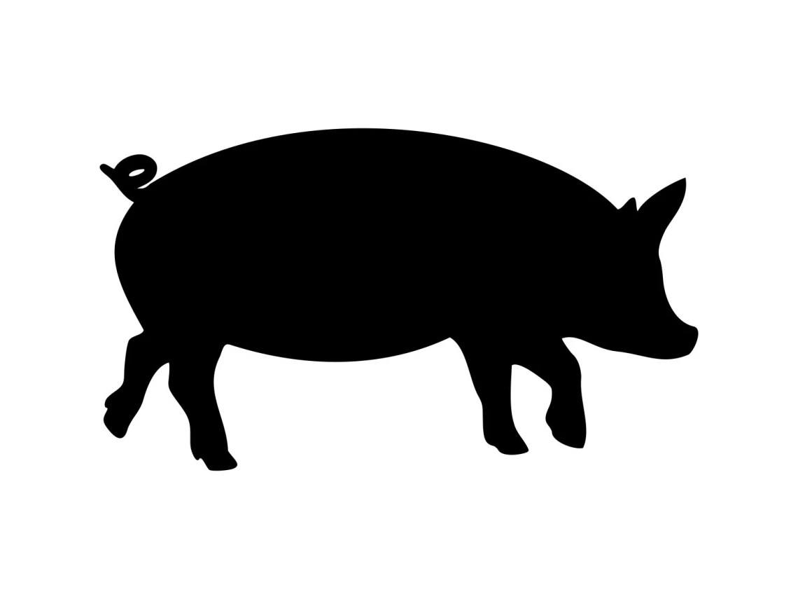 Download Pig Svg Pig Silhouette Svg Pig Cutting File Animal Clipart ...