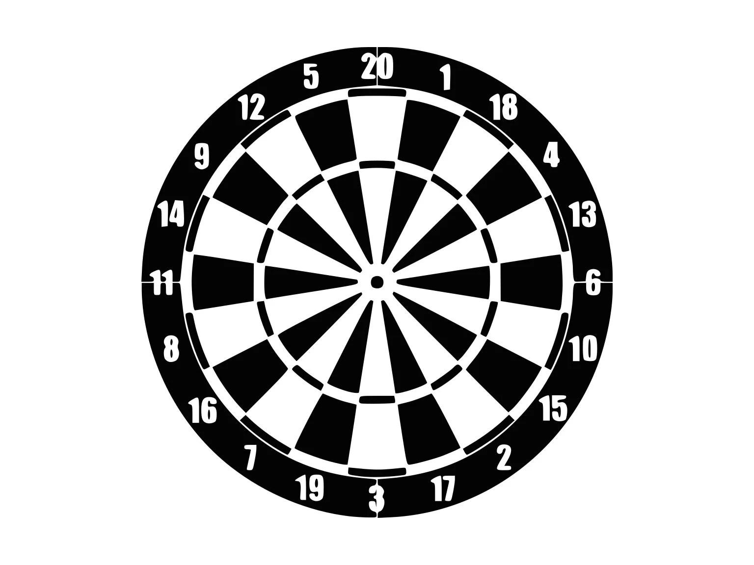 Dart Board Svg Dart Game Svg Svg Files Silhouette Darts