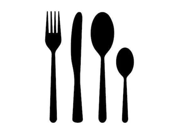 kitchen fork countertops seattle svg silverware file spoon dinner etsy image 0