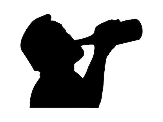 Download Beer Drinking Man Svg Silhouette Beer Bottle Svg Cutting ...