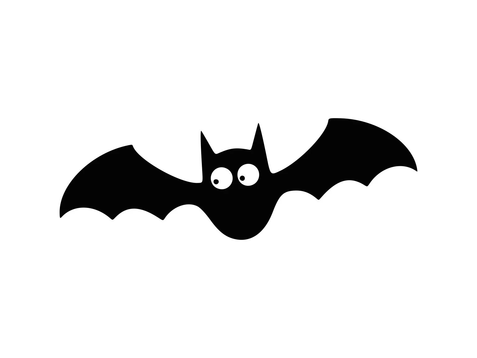 Bat Svg Halloween Bat Svg Spooky Silhouette Cutting File