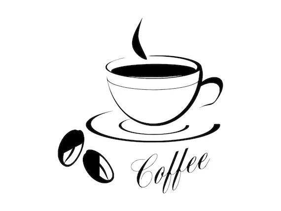 Koffie teken Svg koffie Logo Svg Java digitale Download