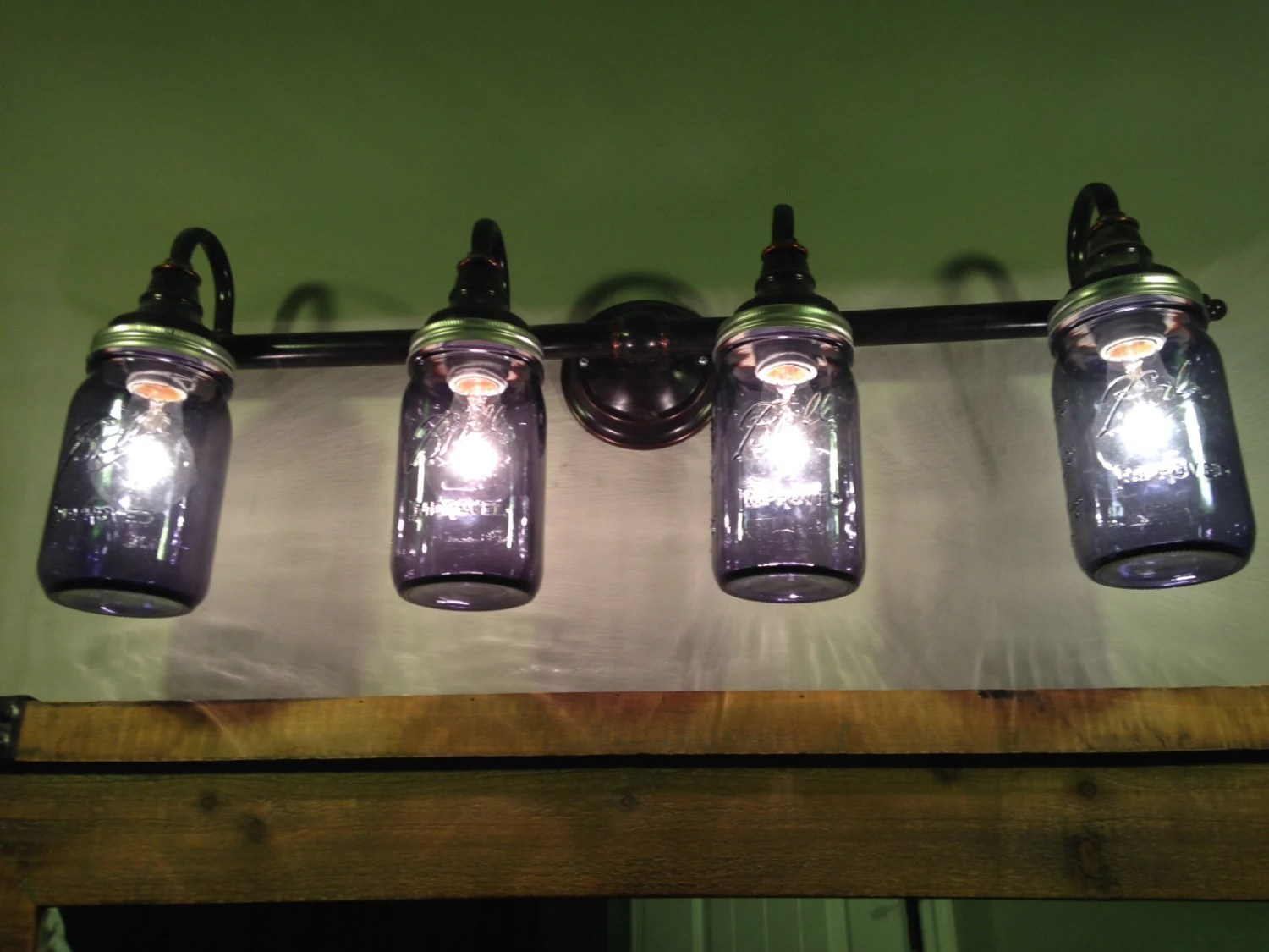 Mason Jar Bathroom Light Mason Jar Lights Bathroom Lighting Vanity Lights Green Mason Jars Purple Mason Jars Clear Mason Jars Blue Mason Jars