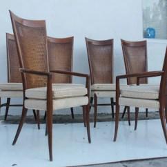 Tall Back Dining Chairs High Mesh Chair Robsjohn Gibbins Style Teak Cane Set Etsy Image 0