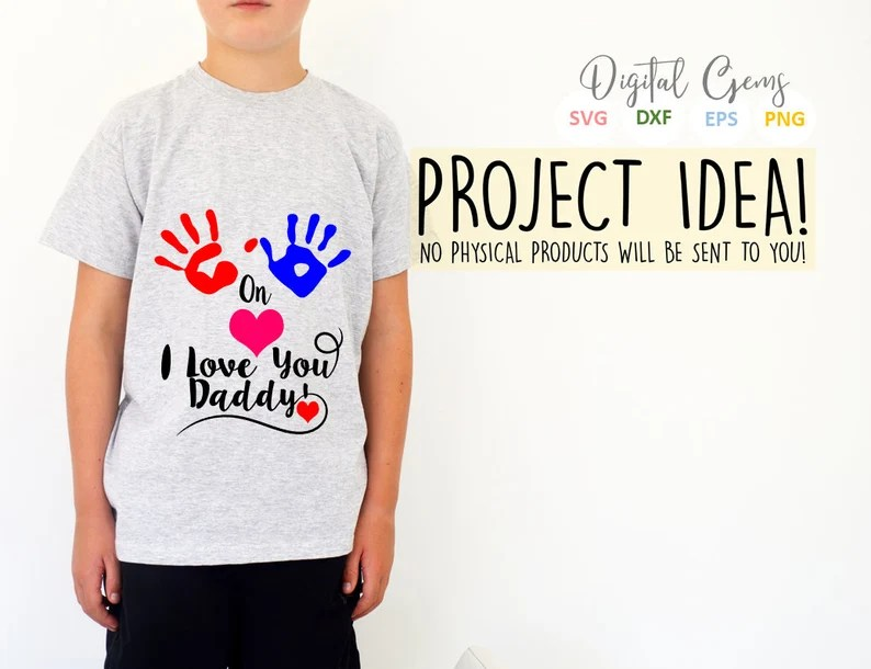 Download Hands on heart I love you daddy svg / dxf / eps / png ...