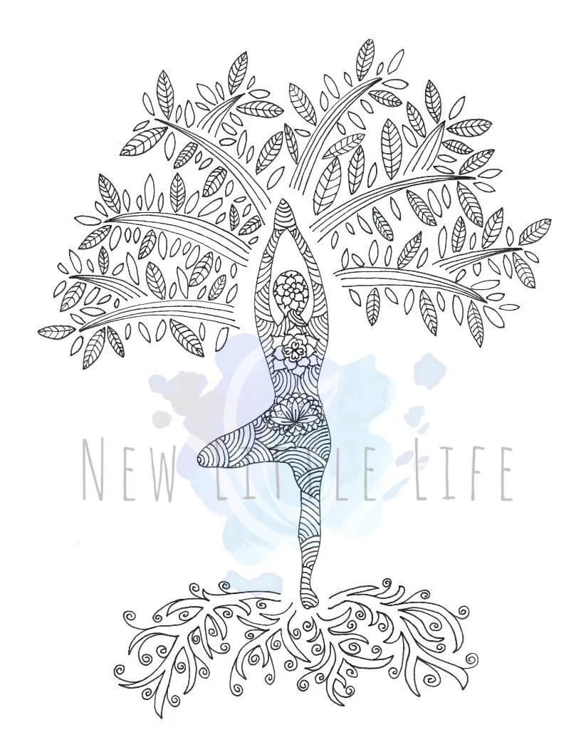 Tree Of Life Coloring Pages : coloring, pages, Coloring, DIGITAL, DOWNLOAD, Adult