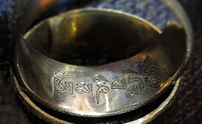 Mantra Ring Silver Om Mani Peme Hung Silver Ring Everyday