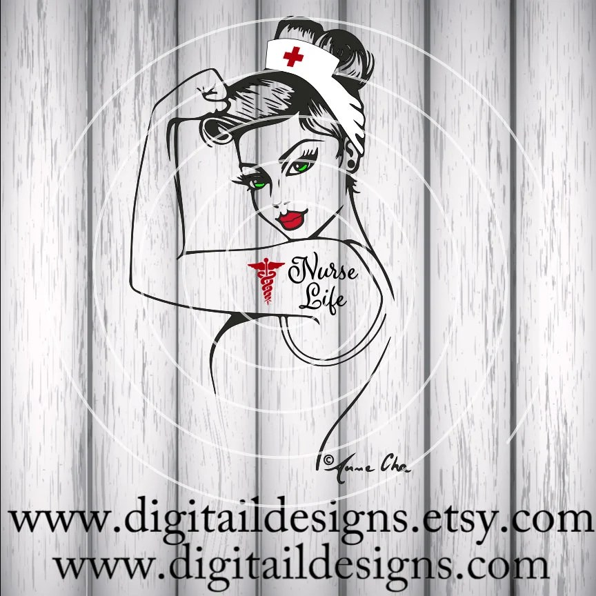 Download Official Nurse Life Rosie SVG eps ai dxf Cut file | Etsy