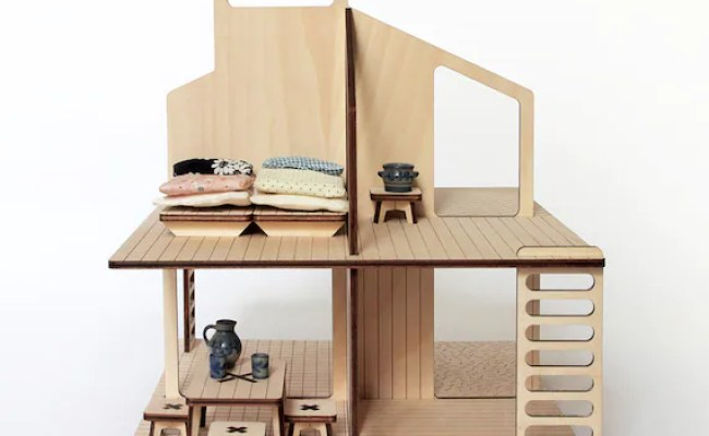 Wooden Doll S House And Its Furniture Etsy