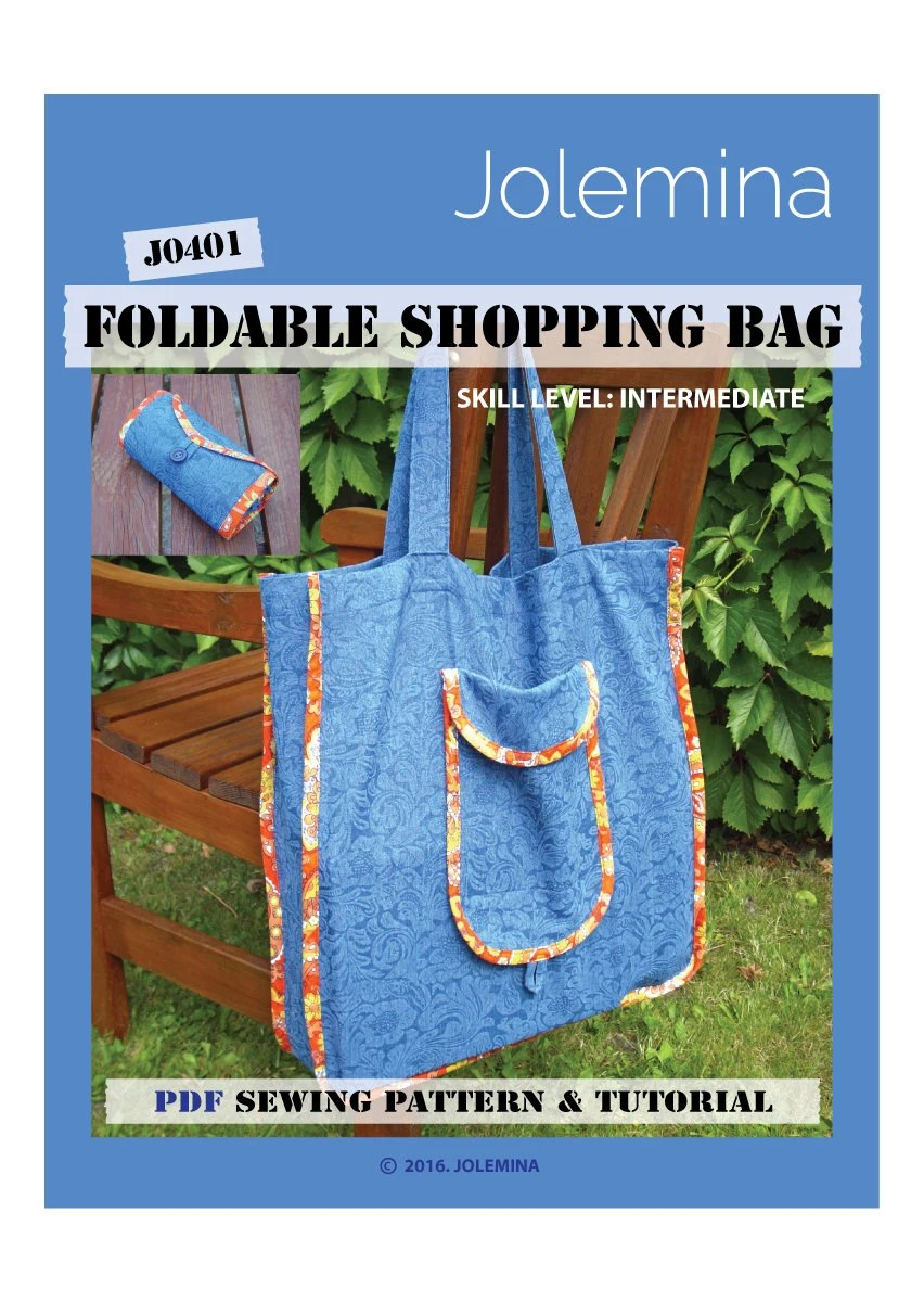 Grocery Bag Pattern Pdf : grocery, pattern, Sewing, Pattern, Shopping, Reusable, Grocery