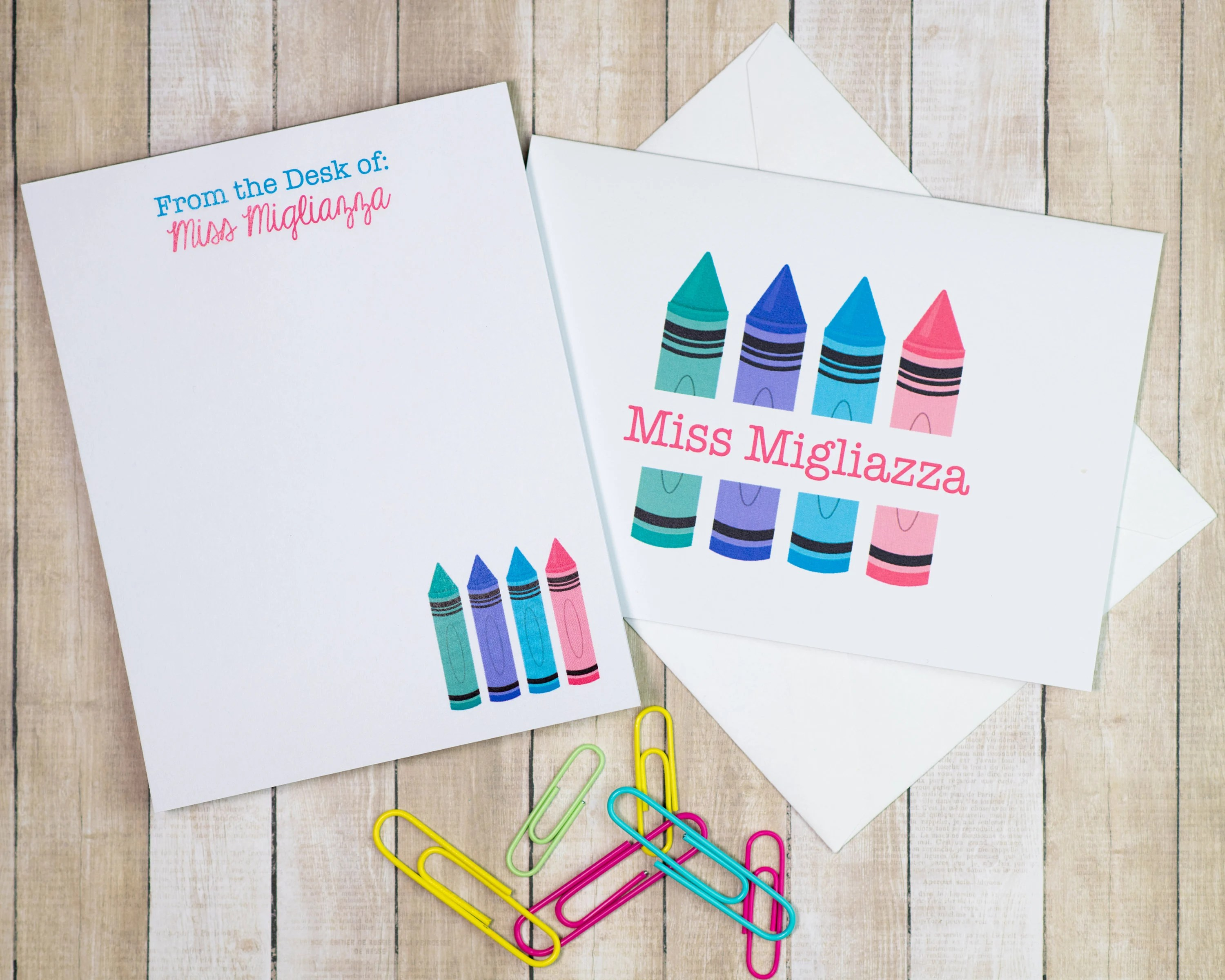 personalized teacher stationery gift