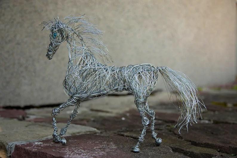 unicorn sculpture metal art