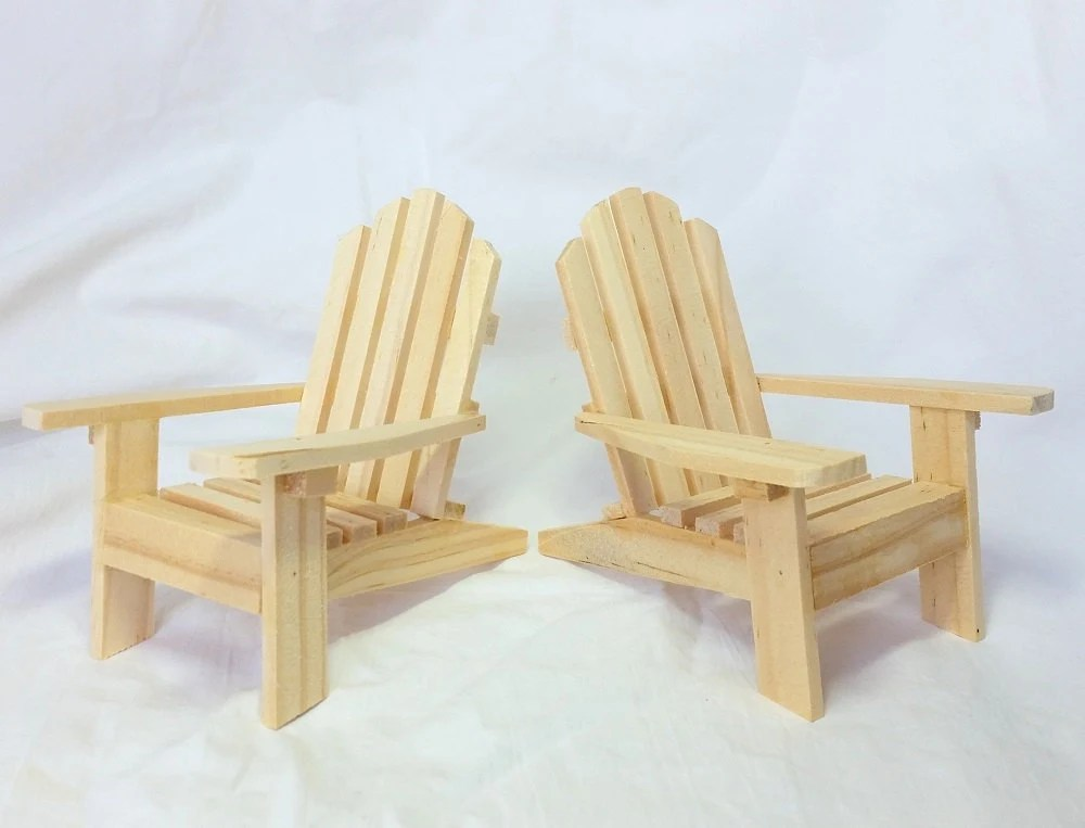 unfinished adirondack chair hanging for two miniatures diy wooden wedding etsy image 0