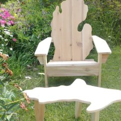 Cheap Lawn Chair Best Office For Lower Back Pain Patio Furniture Etsy Michigan Mitten Adirondack Shape