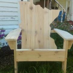 Michigan Adirondack Chair Oxo Tot Sprout Mitten Etsy Red Cedar Minnesota Wood Shape Patio