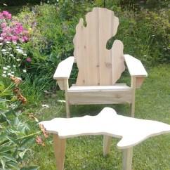 Michigan Adirondack Chair Ikea Logan Covers Mitten Etsy Image 0