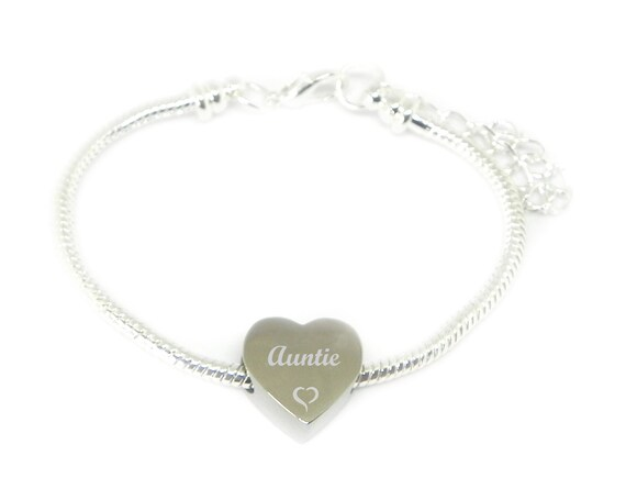 Personalised Engraved Charm Bracelet