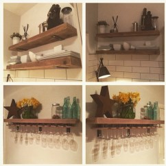 Shelves For Kitchen Alder Cabinets Etsy Reclaimed Wood Made To Measure Chunky Metal Brackets Wine Glass Holders Industrial Shelf Rack Floating Custom Rustic