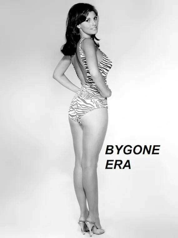 raquel welch swimsuit model poster art pinup girl artwork photo 12x18