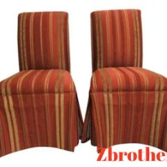 Ethan Allen Wingback Chairs Suede Bean Bag Chair Etsy Pair Parsons Dining Room Boudoir Accent Side