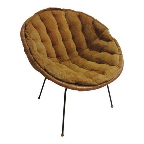 mid century egg chair bedroom accent chairs vintage wicker x hoop lounge etsy