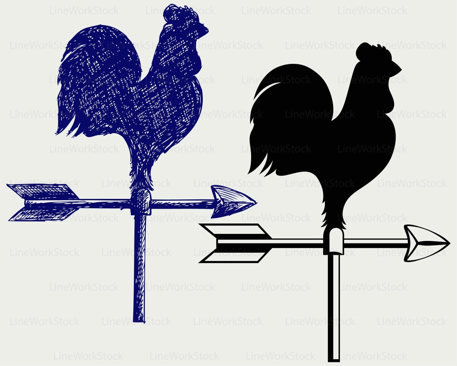 cockerel wind vane svg