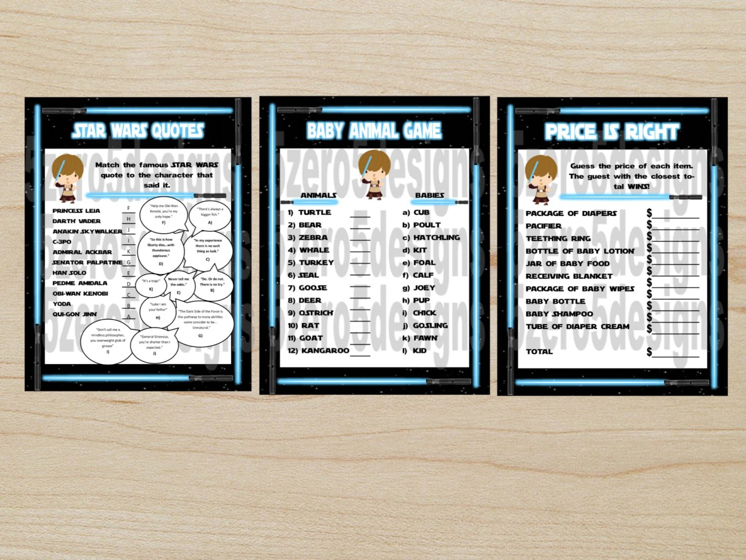 Star Wars Baby Shower Games Baby Shower Games Printable Baby
