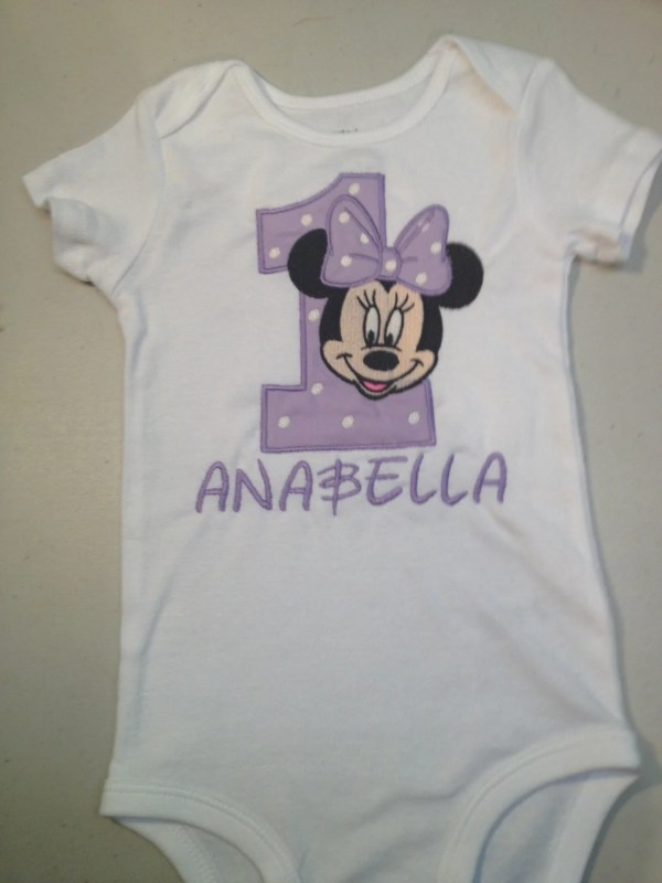 1b7e5cd5a Minnie Mouse Birthday Shirt Onesie 1st - Year of Clean Water