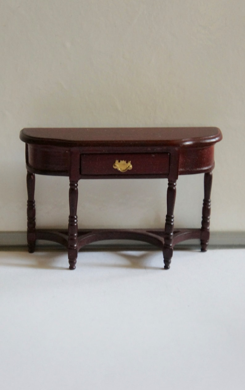 Vintage 1 12th Scale Dolls House Georgian Victorian Side Table With Drawer Period Furniture Hallway Dining Room Living Room Gift