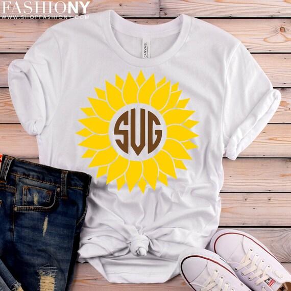 INSTANT DOWNLOAD! Svg, Sunflower Svg, Sunflower Monogram Svg