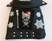 Dog Faux Leather Jacket-LET IT SNOW