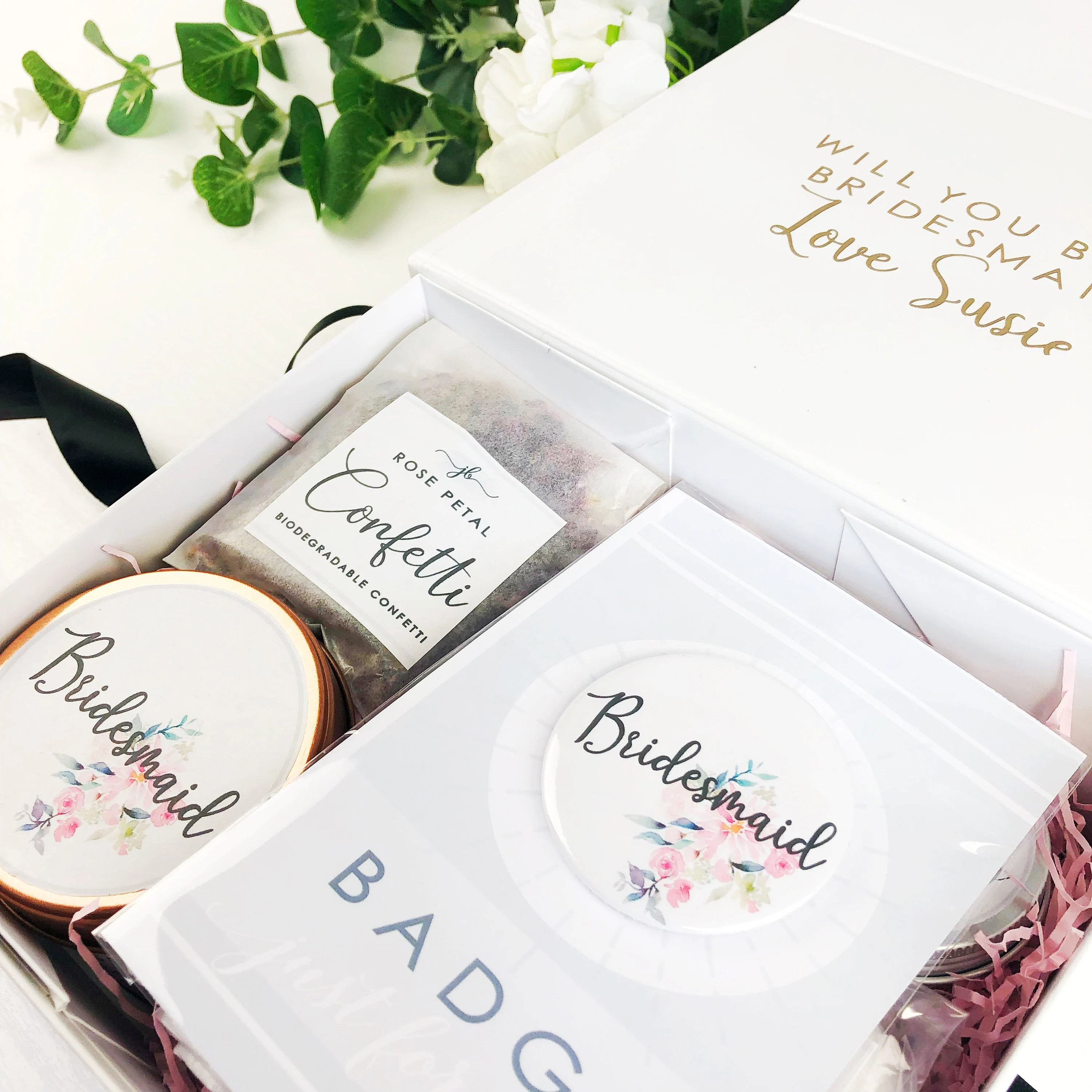 Pre filled will you be my Bridesmaid box. Personalised image 5