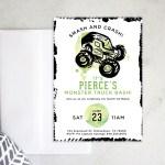 Printable Birthday Party Invitation Monster Truck Bash