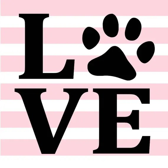 Download Love paw print-dog SVG | Etsy