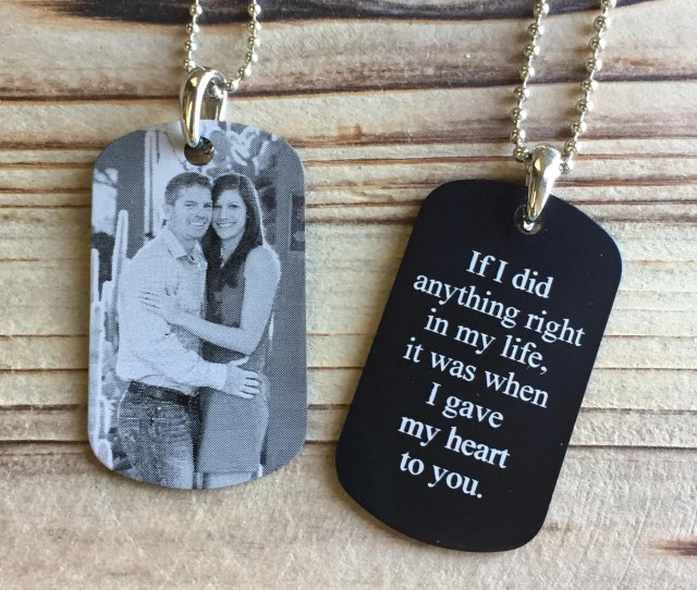 Picture Dog Tag Photo Engraved Dog Tag Personalized Dog Tag Boyfriend Gift Photo Key Chain Groom Gift Husband Anniversary Gift