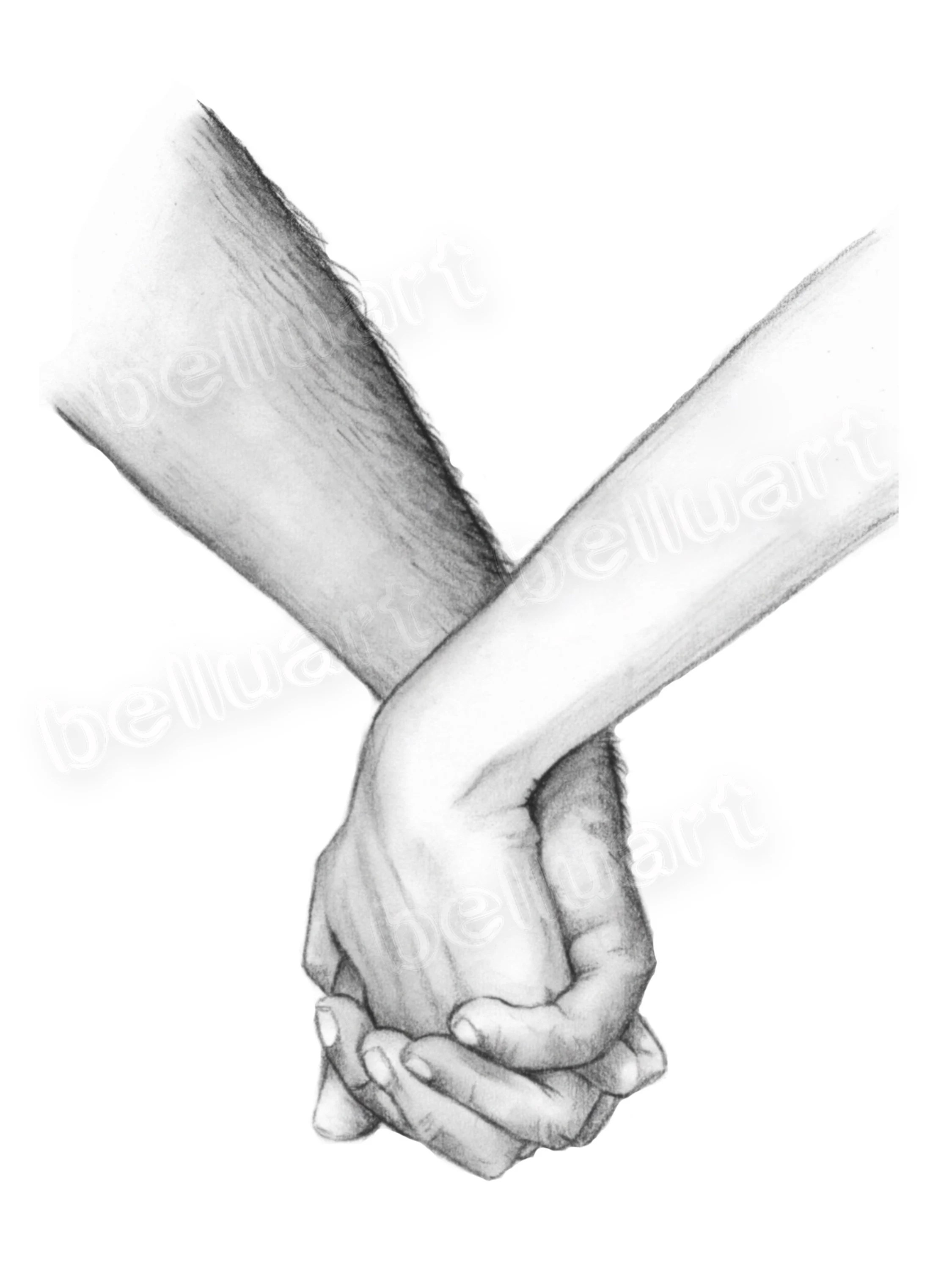 Drawing Holding Hands : drawing, holding, hands, Print, Holding, Hands, Sketches, Pencil