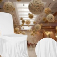 Christmas Chair Back Covers Ireland Steel With Handle Pads Etsy Uk Spandex Cover White Ruffled Skirt Pleated Slipcover For Party Wedding Birthday Venue Decoration Accessory